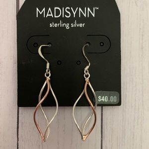 NWT Madisynn twisted silver and copper earrings